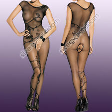 CATSUIT SEXY HOT LINGERIE FULL BODY CALZE RETE BODYSTOCKING APERTO MEDIAS DONNA