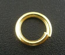 Wholesale New Gold Plated HOTSELL Open Jump Rings 8x1.2mm
