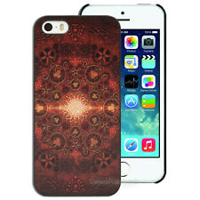 Brown Sun Pattern Printed Hard Back Case for Apple iPhone 4S 4 5S SE 5 Cover