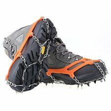 Anti-slip Sole Shoes Crampons Spikes Snow Chains for Boots 8 Teeth steel