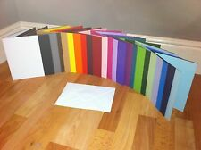 "5"" x 5"" CARD BLANKS PRE SCORED U CHOOSE COLOUR AND QUANTITY WITH WHITE ENVELOPES"