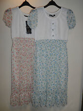 NEW WOMAN'S LADIES LIGHTWEIGHT FLORAL FULLY LINED SUMMER DRESS SIZE UK 10/12