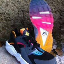 2015 NIKE AIR HUARACHE RAINBOW FADE GRAY PINK GOLD COOL HYPER PUNCH 724764-005
