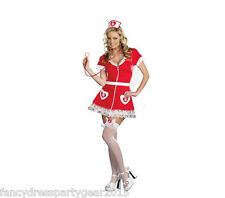 Ladies Gorgeous Sexy Red Ladies Naughty Nurse Doctor Fancy Dress Costume Outfit