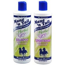 THE ORIGINAL MANE'N TAIL HERBAL ESSENTIALS SHAMPOO AND CONDITIONER 12OZ/355ML