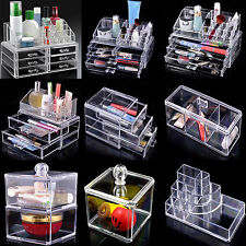 Clear Makeup Case Organiser Acrylic Drawer Storage Jewelry Cosmetic Display Box
