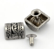 Wholesale Lots Sets Silver Tone Pattern Carved Spike Rivet Studs Spots