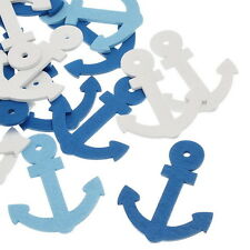 Wholesale Wooden Pendants Boat Anchor Shape Mixed Colors 60mm x47.8mm