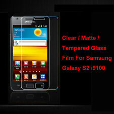 Tempered Glass / Clear / Matte Screen Protector For Samsung Galaxy S2 S II i9100
