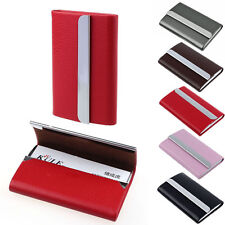 New Leather Business Credit Card Name Id Card Holder Case Wallet Box Pop