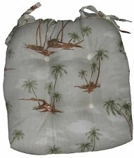Set of 4 Chair Pads Seat Cushion Pillow with ties Indoor / Outdoor
