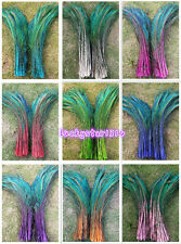10-200pcs 12-14 inches/30-35 cm left and right Symmetric peacock feather sword