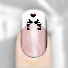 Nail Decals Couple Minnie Mickey Mouse Water Transfer Adult Kid Peel Apply