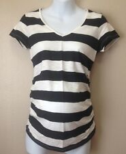 "MATERNITY ""OLD NAVY"" NAVY/WHITE STRIPED TOP; NWT"