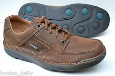 Clarks Mens Active Air Shoes Movers Lo GTX Tobacco Leather UK 10.5 / 45