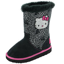 Hello Kitty Selkirk Girls Boots - Black (Sizes 6,7,8,9,10,11,12)