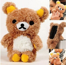 Brown 3D Teddy Plush Bear Doll Cover Case Toy For Samsung S5 S4 iPhone 6 4.7""