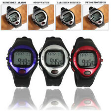 Pulse Heart Rate Monitor Calories Counter Fitness Watch Time StopWatch Alarm SU