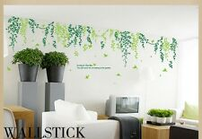 Home Decor Art Vinyl Removable Wall Stickers Green Branch Tree Mural Decals