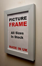 White Picture frame 40mm wide , All Sizes|Picture Frame| Made in UK