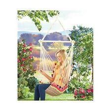 HANGING CHAIR HAMMOCK SUMMER RELAXATION PORCH SWING TREE OR STAND TWO COLORS