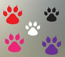 "(6) 1"" CAT paw print vinyl Decal sticker cougar tiger feline glass plastic S825"