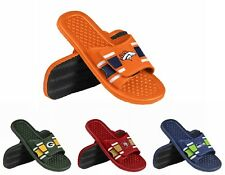 NFL Team Logo 2015 Mens Stripe Shower Slide Flip Flops - Pick Team