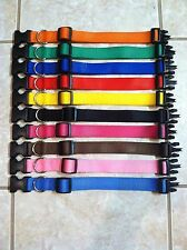 FREE SHIP!  Premium Nylon Dog / Pet Collar, Thick, Durable, 40 Sizes and Colors!