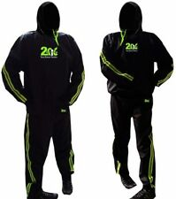 2Fit Sweat Sauna Suit Gold Gym Training Track Suit Unisex Slimming Weight Loss