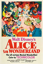 ALICE IN WONDERLAND DISNEY 1951 Movie Vintage AIW03G BIG WALL Poster A1,A2,A3,A4