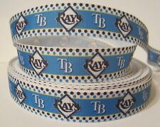 "GROSGRAIN TAMPA BAY RAYS BASEBALL 7/8"" RIBBON*YOUR CHOICE 1, 3 or 5 YARDS"