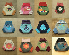 Wool soaker,  diaper cover, with applique on but ,  MADE TO ORDER