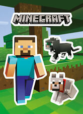 Offical Minecraft Steve & Pets Monsters Animals Creepers Vinyl Sticker Pack Kids