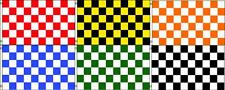 3ft x 5ft Polyester Flags Checkered Color in Black, White, Red, Orange, Green