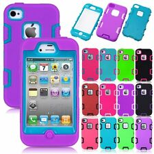 Heavy Duty Hybrid Shockproof Dirt Proof Durable Hard Case Cover For iPhone 4 4S