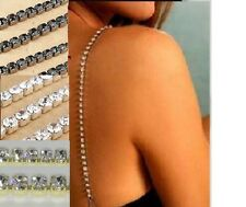 Silver Gold Black Diamond Crystal Adjustable DETACHABLE BRA STRAPS (PAIR)