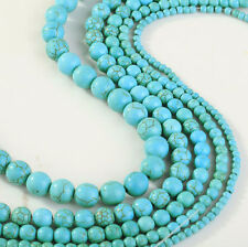 15-100pcs Blue Turquoise Gemstone Round Loose Bead Beads 4mm 6mm 8mm 10mm 12mm