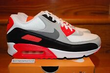 2015 NIKE AIR MAX 90 OG WHITE/COOL GREY (INFRARED) GS & MEN SIZE: 3.5Y-13