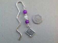 TEACHER THANK YOU GIFT Handmade Number 1 Teacher charm beaded bookmark, gift bag