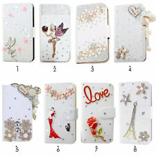 Diamond Crystal Bling Leather Wallet Case Flip Cover for ZTE ZMax Z970