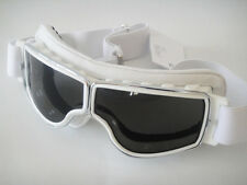 NEW AVIATOR T2 WHITE GOGGLES L JEANTET Motorcycle PRESCRIPTION TOO Davida FREE S