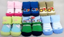 Wholesale Lot 12 Pairs Boys & Girls Baby Knitted Socks - Size: Newborn (E00002L)
