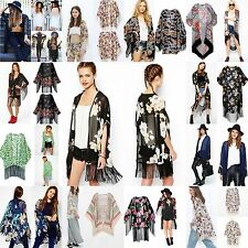Vintage Retro Boho Hippie Chiffon Tops Kimono Casual Coat Cape Blazer Jacket Lot