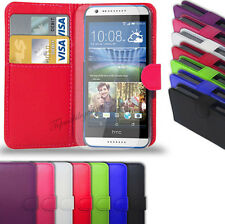 HTC Desire 820-pelle PU Wallet Case Cover & FREE SCREEN PROTECTOR