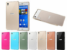 Luxury Aluminum Metal Bumper Frame   PC Back Case Cover Fit For Sony Xperia Z3