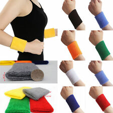 2 pcs Lady Sweatband Sweat Band Sports Yoga Cotton Gym Hand band Wristband