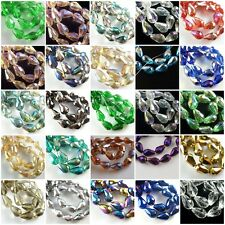 Bulk 20pcs Teardrop Glass Crystal Faceted Beads Spacer Jewelry Findings 10x15mm