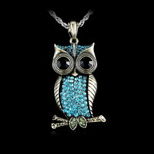 Free shipping New Special Retro Owl Pendant Stylish Sweater Long Chain Necklace