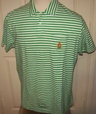 NEW Polo Ralph Lauren short sleeve 100% cotton crest shirt green stripe XXL 2XL