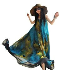 Summer Women Long Dress Ball Gown Boho Beach Cocktail Dress Sleeveless M-L jupe